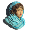 Afghan Girl with Scarf